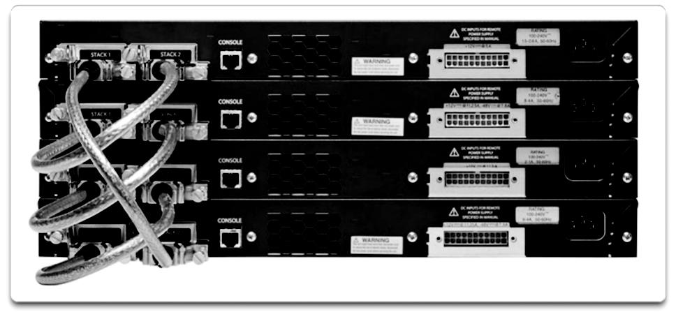 170 Scaling Networks v6 Companion Guide Figure 3-49 Cisco Catalyst 3750 Switch Stack The master contains the saved and running configuration files for the stack.