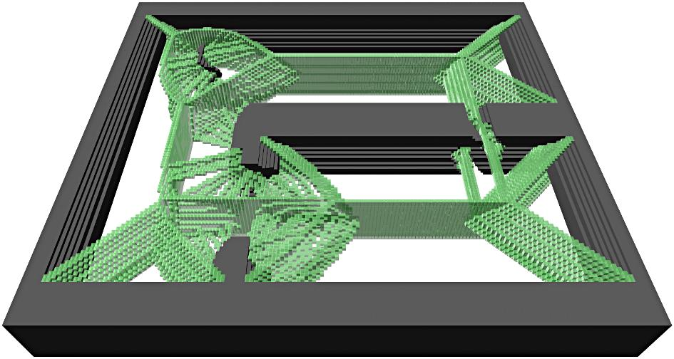 For readability, only half of the layers are shown, the other half is identical due to the symmetry of the robot.