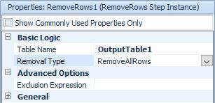 which object or element has a reference to the row to be removed: This means that to remove a row from an output table, you use a SetRow