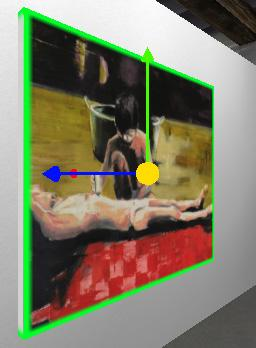 The image then sticks to your mouse. To position the image or video, move the mouse and click the desired position on the wall.