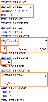 4.2. TECHNIQUES 37 Figure 4.16: This is an example file that the Supervised technique uses to create the state machine. 1-Label that is associated to a field, 2-Left separator of the field.