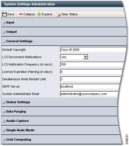 System Administration Chapter 9 Input (System Administration) Figure 9-9 shows Input settings. Table 9-4 describes the settings.