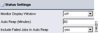 System Administration Chapter 9 Status Settings (System Administration) Figure 9-12 shows Status settings. Table 9-6 describes the settings.