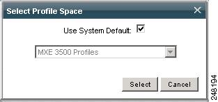 Chapter 9 Profile Spaces Figure 9-31 Selecting a Profile Space Creating a Profile Space Procedure