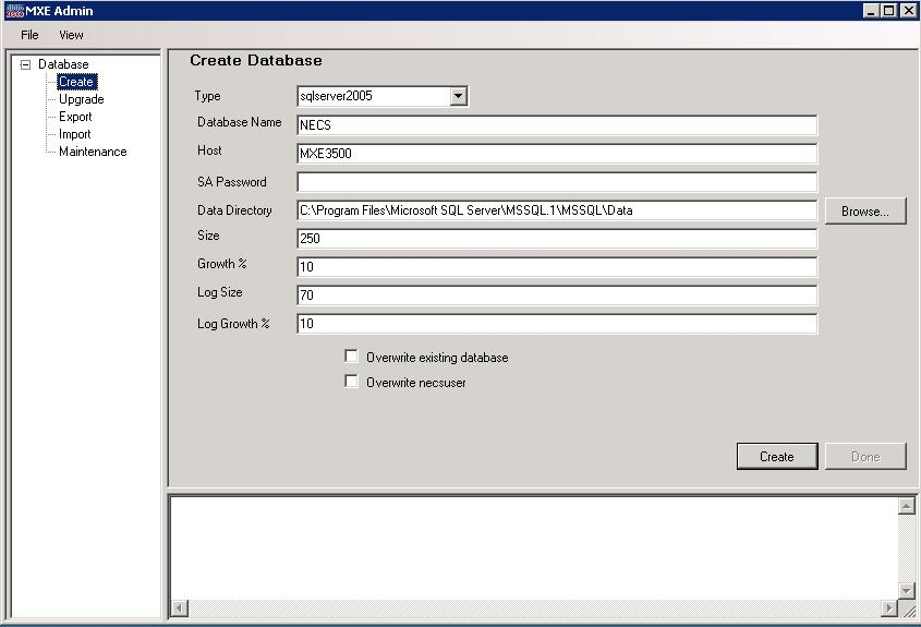 Additional Administrative Tools Chapter 9 Figure 9-71 Database