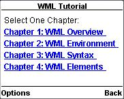 WML - DTD Here is the complete DTD taken from W3.org. For a latest DTD, please check WML Useful Resources section of this tutorial. <!-- Wireless Markup Language (WML) Document Type Definition.