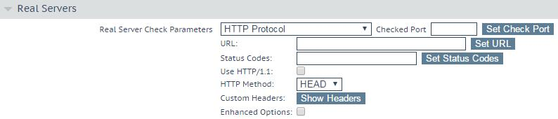Configure the LoadMaster 13. Select Super HTTP as the Persistence Mode. 14. Expand the Real Servers section. 15. Click Add New. Figure 5-9: Real Servers Section Figure 5-10: Real Server Parameters 16.