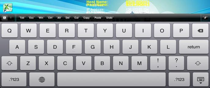 Brings up a virtual keyboard. Tap on to discard keyboard.