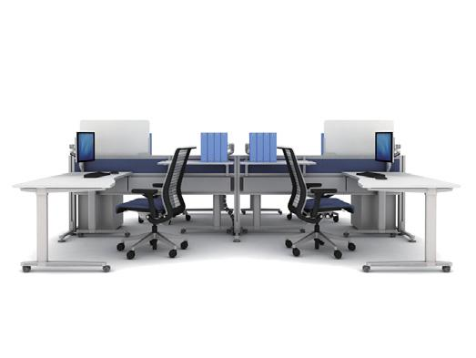 Casters on the tables enable them to be moved together at any time to create workspace for interaction, without moving away from your tools and resources.