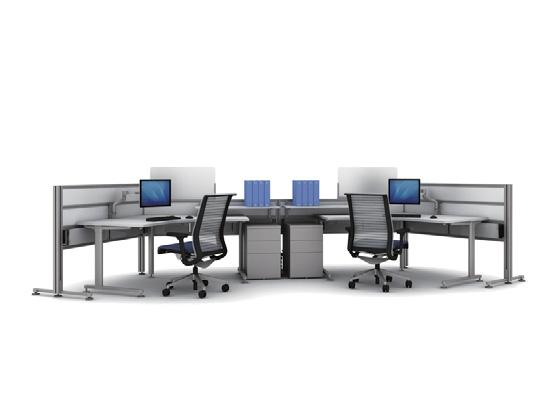 Elements connect to grow the workspaces as you need them Bridges connect for integrated data and power connectivity Double height ribbons provide extra privacy Privacy screens slide to