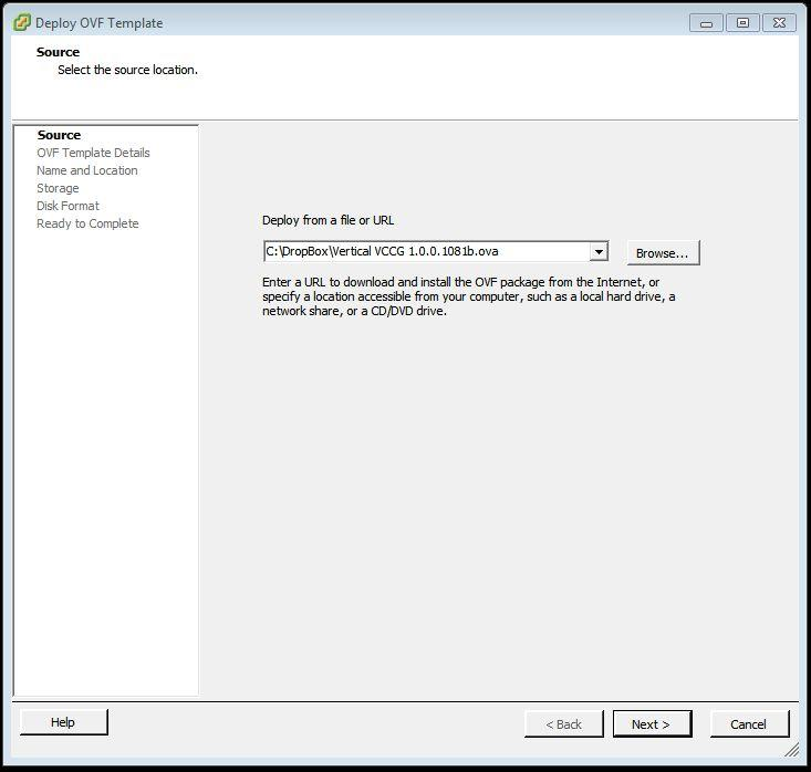 Deploy OVA Template You will need to log into your ESXi management console in order to deploy the VCCG OVA template.