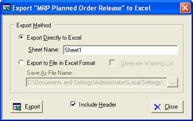 General Information Export to Excel All spreadsheet views are equipped with the option to Export to Microsoft Excel.