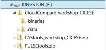 Workshop Interactive! Copy the sample files from the USB thumb drive: You can install CloudCompare 2.