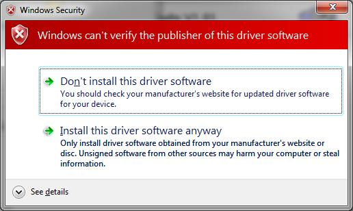 Select Install the driver software anyway to accept the changes that will be made. 10.
