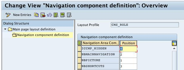 Add Navigation Components to Layout Profile To add a component to the navigation bar for your profile, make sure that the component you want