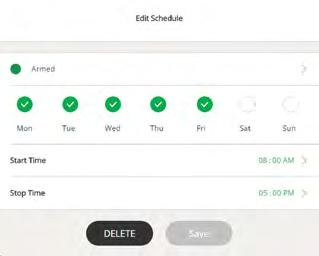 Edit a Schedule ¾ To edit a schedule: 2. Tap or click Mode. A list of cameras displays. 3. Tap or click the Arlo Pro camera.