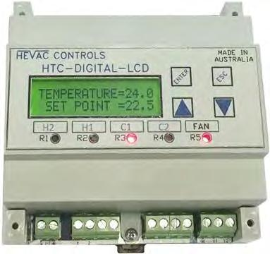 HTC-DIGITAL-LCD Microprocessor based Temperature / CO2 Controller c/w 365 Day Time Switch & Modbus Communication.