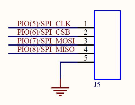 Figure 4: SPI/PIO header (J5) Figure 5: UART header (J12) Microphone 2 Input (J20) Pin 1 is V DD, Pin 2 is IN2/DMC, Pin 3 is IN1/DMD Speaker Out Left Header