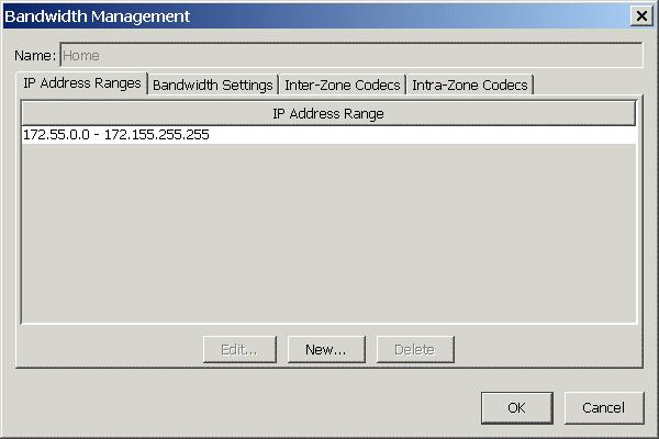 Configuring bandwidth management zones Configuring the Home zone 1. Expand Bandwidth Management in the left pane and click Zones. 2. In the Zone Name list, select Home and then click Edit. 3.