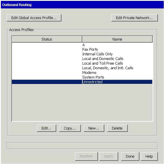 Configuring outbound routing for SIP calls 1.