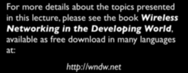 the Developing World, available as