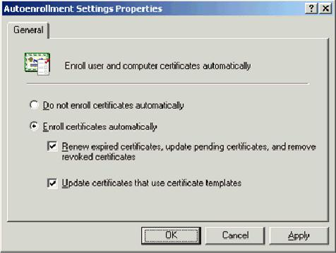 certificates that use certificate templates. 16. Click OK. ACS 4.