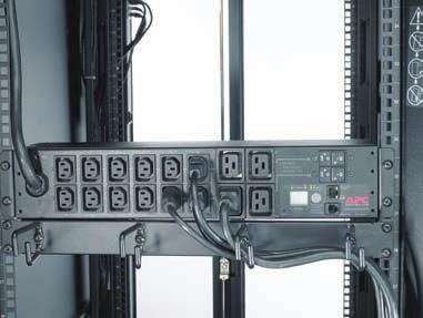 equipment is connected to the unit. These Metered Rack PDUs also have alarm thresholds that, when exceeded, alert users to potential problems.