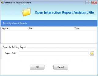 Icon View Details Appearance Open Report Assistant File Opens a saved Report Assistant query.