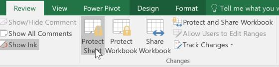 Protecting your Files & Worksheets Protecting / Unprotecting Worksheets Protecting a