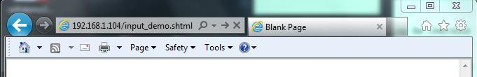 Lab 8.2.1.4.1 : Input Demo 199 Open your web browser In the address bar, type 192.168.x.