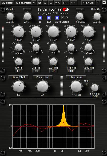 1. What is bx_digital V2 mono? bx_digital V2 mono is an 11-band EQ and De-Esser. It is based upon the modern classic bx_digital V2 and the analog bx1 EQ. 3.