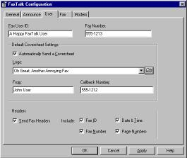 To display FaxTalk Status when sending or receiving faxes: 1. Check the Pop up FaxTalk Status while sending or receiving faxes option on the Announce tab. 2.