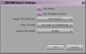 3. Select the sequence or clips to export. 4. With an XDCAM device connected to your system, select Output > Export to Device > XDCAM.
