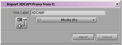 » Your Avid editing application uses the disk label for operations such as Batch Import, where you are prompted to insert a specific XDCAM disc that holds the files you want to import.