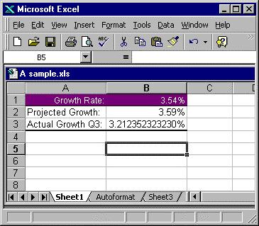 Excel makes its best guess as to what should be formatted as a header and what s data.