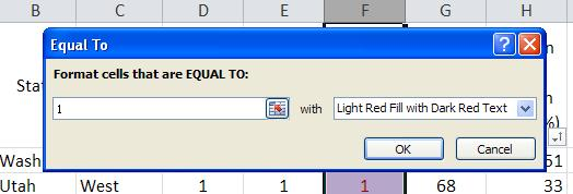 2. In the dialog box that appears, click Highlight Cells Rules. 3.