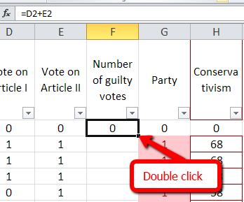 Press enter to complete the formula. The total now appears in the cell where you typed the formula. You can copy and paste the formula into the remaining cells in the column.