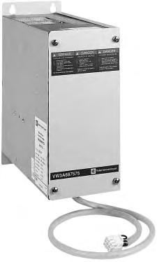 References Variable speed drives for asynchronous motors Altivar 68 Options: braking units and resistors 5394 VW3 A687575 UF 75 kw RF 3Ω Resistance at drive end =.