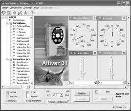 French, German, Italian and Spanish). Functions The PowerSuite software workshop can be used for preparing, programming, setting up and maintaining Telemecanique starters and variable speed drives.