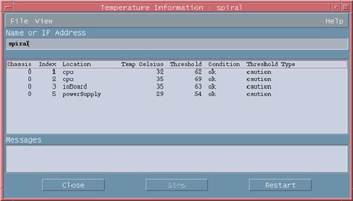 Health Fault-tolerant fans This option displays the location, type, speed, and status of all redundant fans installed in the selected server.
