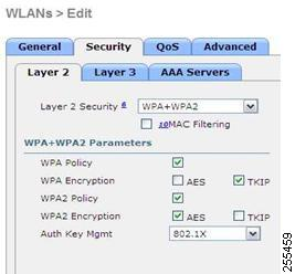 WLAN Security Settings for the 600 Series OfficeExtend Access Point Security encryption settings must be identical for WPA and WPA2 for TKIP and AES.