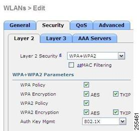 WLAN Security Settings for the 600 Series OfficeExtend Access Point The following are examples