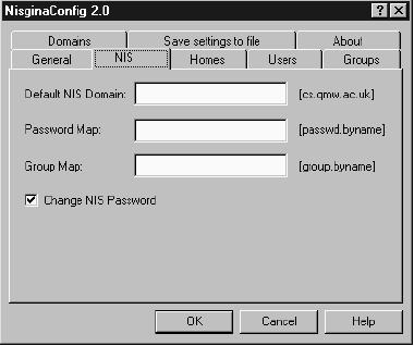 Set the NIS Domain, Password Map, and Group Map. You can only configure one NIS domain at a time.