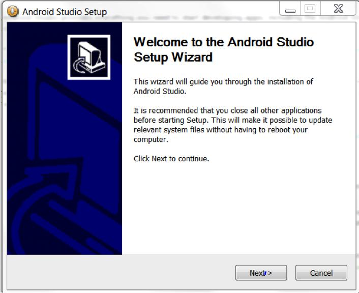 Chapter 1 Windows Open the downloaded file, and then go through the following Android Studio Setup Wizard window to complete the installation process: Setting up the Android Software Development Kit