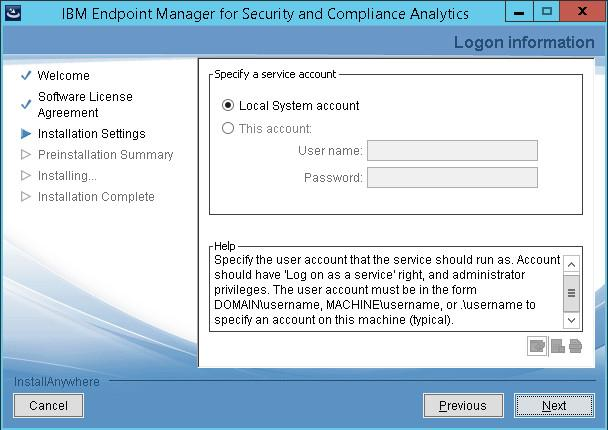 If you configure IBM Endpoint Manager Analytics to connect to the SQL Serer through a user that is authenticated through Windows, the IBM Endpoint