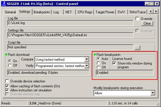 234 CHAPTER 7 7.4 Setup & compatibility with various debuggers Setup & compatibility with various debuggers 7.4.1 Setup In compatible debuggers, flash breakpoints work if the J-Link flash loader works and a license for flash breakpoints is present.