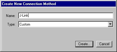 Click Connect Connection Organizer to open the Connection Organizer. 2. Click Method New in the Connection Organizer dialog. 3. The Create a new Connection Method will be opened.