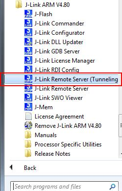 93 CHAPTER 3 J-Link Remote Server Start J-Link Remote Server in tunneling mode Connect to the J-Link / J-Trace via J-Link Commander J-Link Commander can be used to verify a connection to