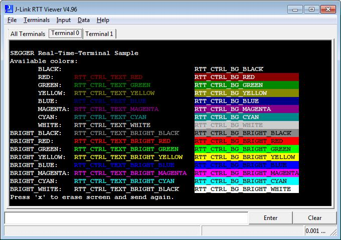97 CHAPTER 3 3.7 J-Link RTT Viewer J-Link RTT Viewer J-Link RTT Viewer is a Windows GUI application to use all features of RTT in one application. It supports: Displaying terminal output of Channel 0.