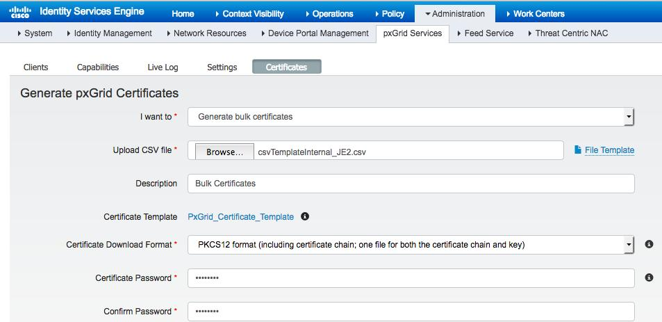 Using ise 22 internal certificate authority ca to deploy step 8 if you select pkcs12 format please refer to importing pxgrid client certificates in yadclub Gallery